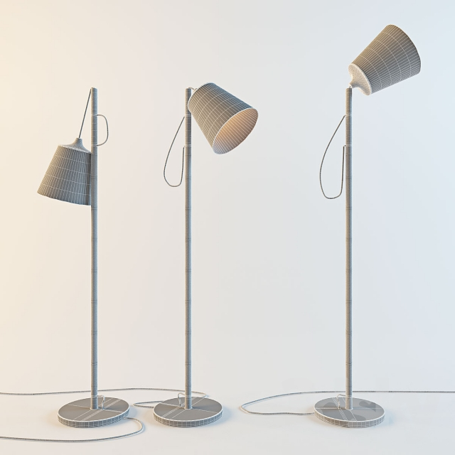 3d Models Floor Lamp Muuto Pull Whatswhat