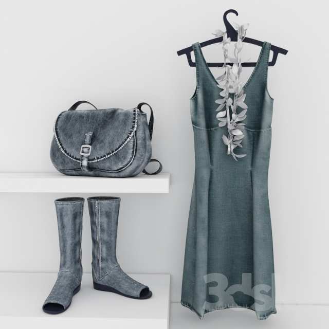 dress, shoes and bag