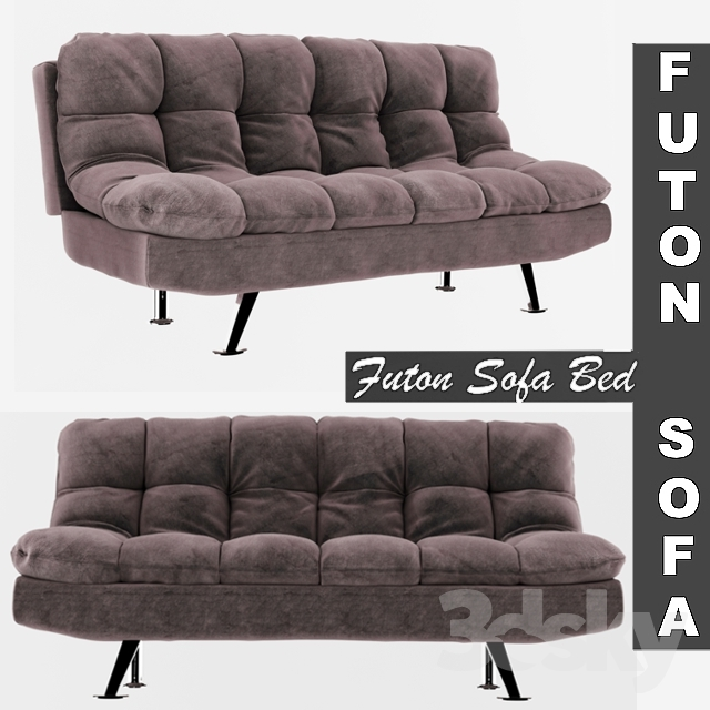 Futon Sofa Bed Grey