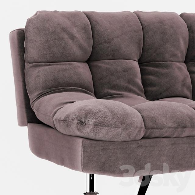 3d models sofa futon sofa bed grey for Sofa bed 3d model
