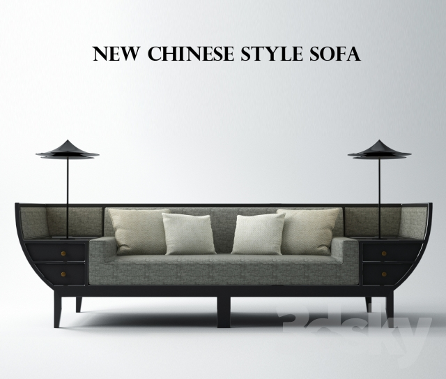 3d models sofa new chinesestyle sofa for Chinese style sofa