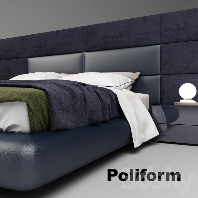 3d models bed poliform dream bed for Bed models images