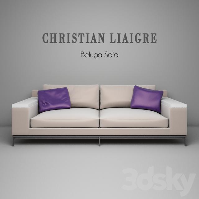 3d Models Sofa Christian Liaigre Beluga Sofa
