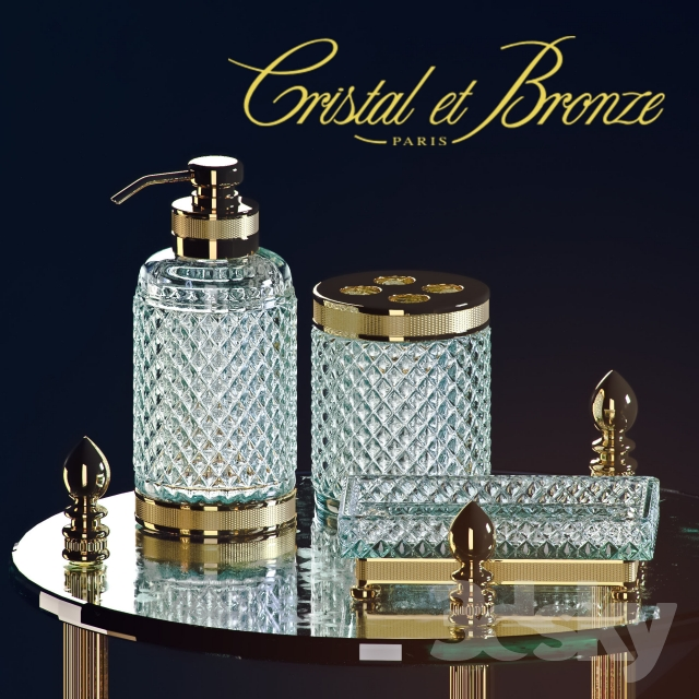 3d models bathroom accessories cristal et bronze. Black Bedroom Furniture Sets. Home Design Ideas