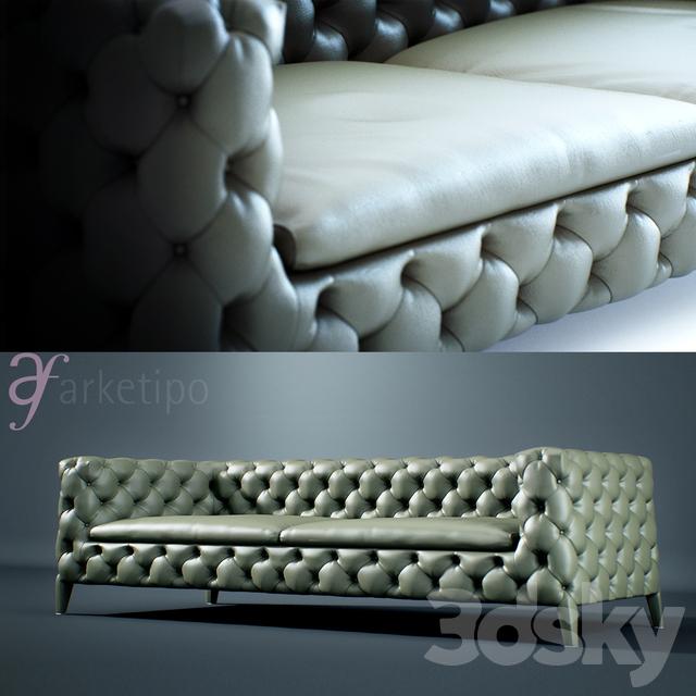 3d models: Sofa - Arketipo Windsor