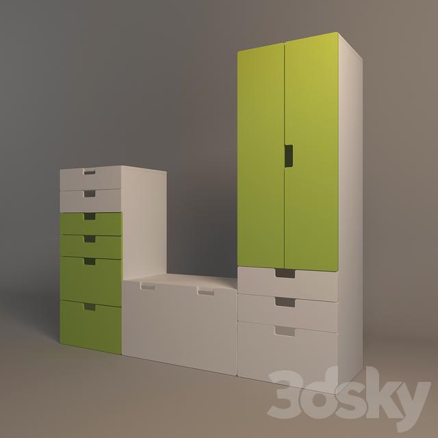 3d Models Office Furniture Wardrobe Storage System Ikea