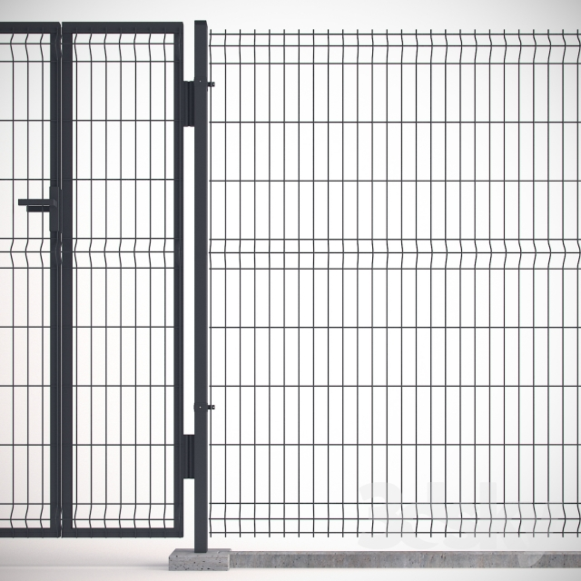 3d models: Other architectural elements - Welded Wire Panel Fence