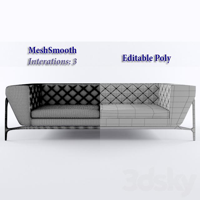 3d Models Sofa Mercedes Benz Quilted Sofa 2013