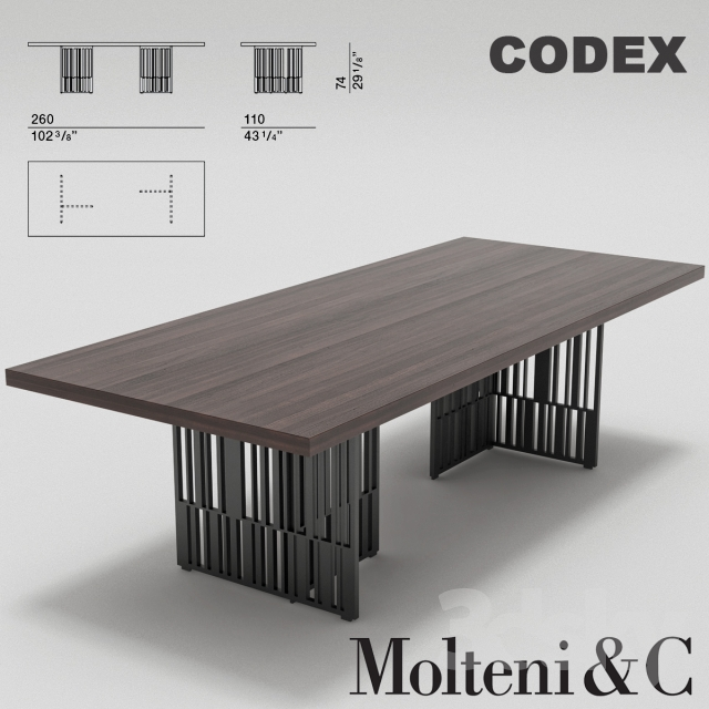 3d Models Table Molteni Codex Table
