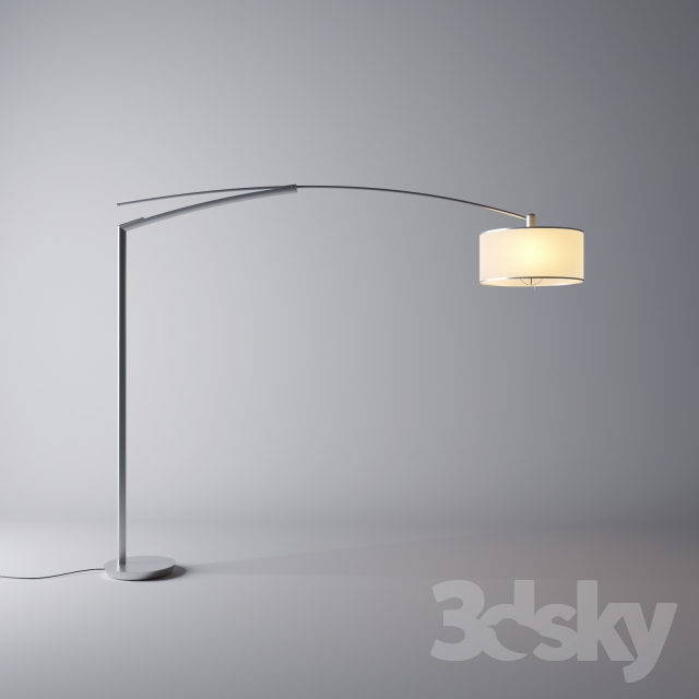 3d Models Floor Lamp Vibia Balance Floor Lamp
