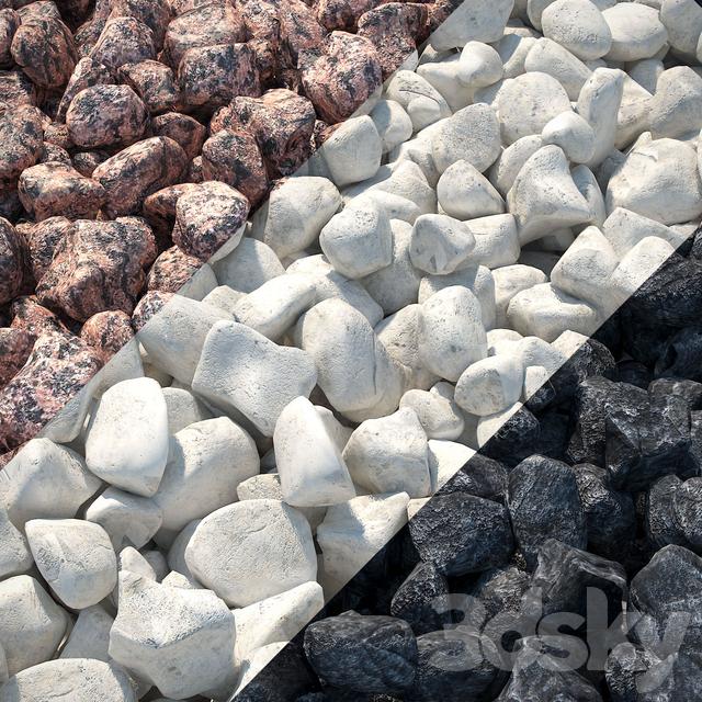 Red Granite Gravel : D models other architectural elements gravel red