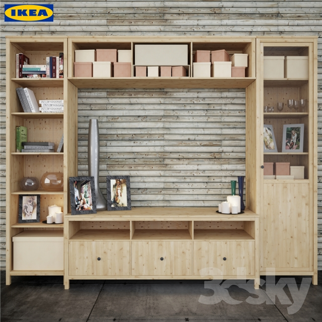 3d models: Other - The combination of Ikea to HEMNES living room series