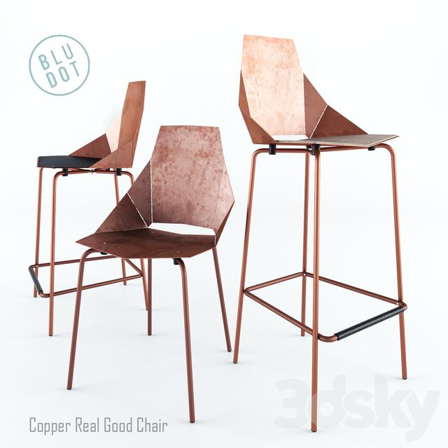 3d Models Chair Blu Dot Copper Real Good
