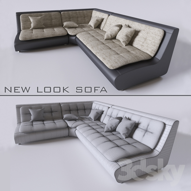 3d models sofa new look sofa pearl. Black Bedroom Furniture Sets. Home Design Ideas