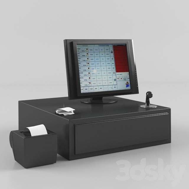 3d models: PC & other electronics - Cash Register