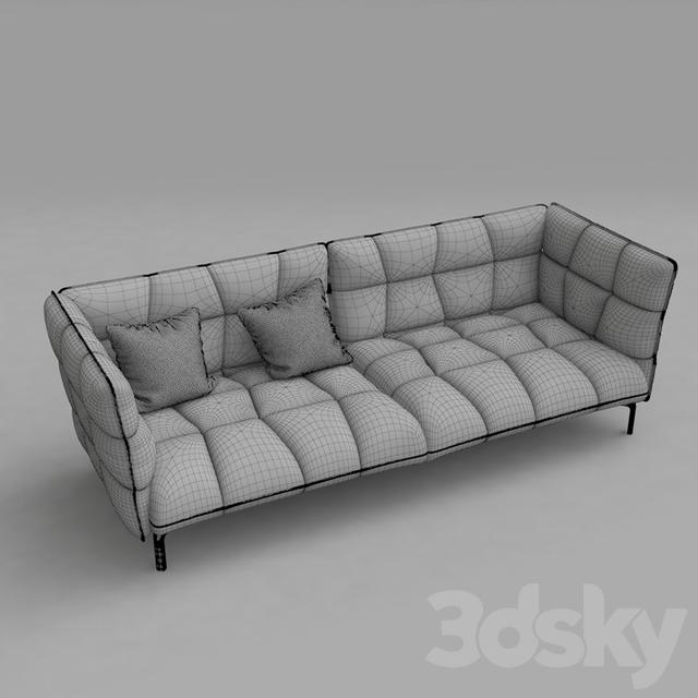 3d models sofa b b husk sofa. Black Bedroom Furniture Sets. Home Design Ideas