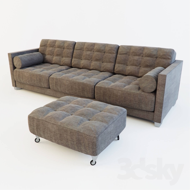 3d models sofa sofa le canape by flexform. Black Bedroom Furniture Sets. Home Design Ideas