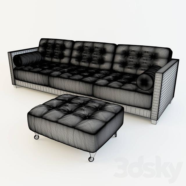 3d models sofa sofa le canape by flexform for Canape leather sofa