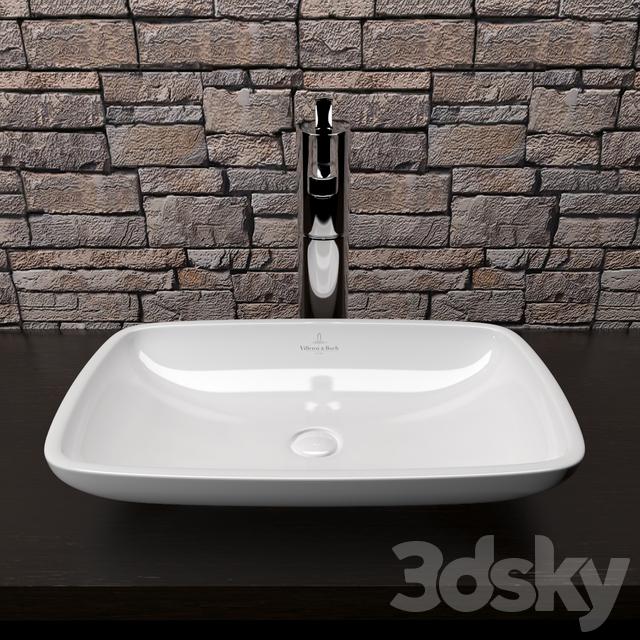 3d models wash basin villeroy boch loop friends 515. Black Bedroom Furniture Sets. Home Design Ideas
