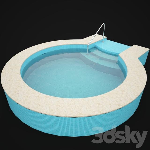 3d models other architectural elements round pool. Black Bedroom Furniture Sets. Home Design Ideas