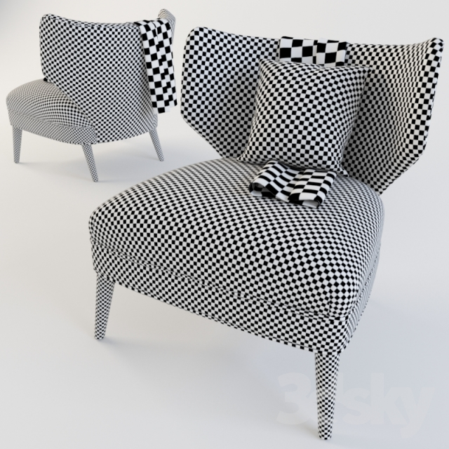 3d Models: Arm Chair   Retro Wing Chair