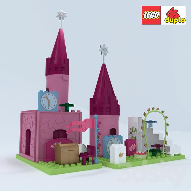 3d models toy lego duplo for Modele maison lego duplo