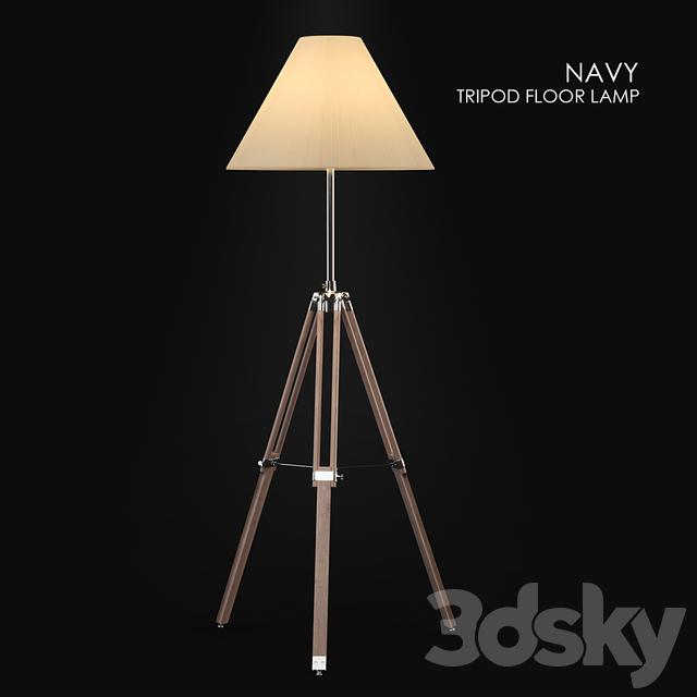 3d models floor lamp navy tripod floor lamp aloadofball Images