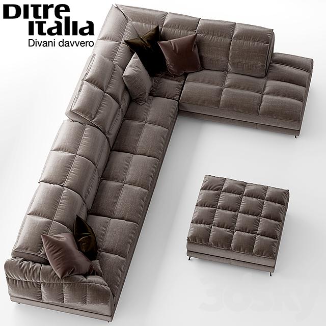 3d models: Sofa - Sofa Dunn Soft Ditre Italia Design