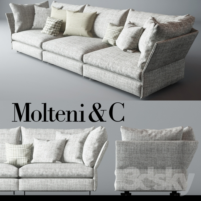 3d models sofa molteni c holiday sofa. Black Bedroom Furniture Sets. Home Design Ideas