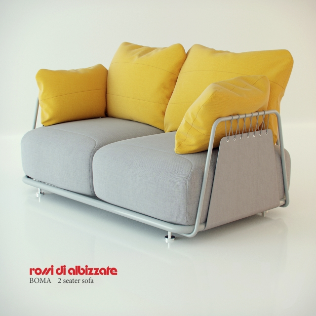 3d models: Sofa - Boma Rossi di Albizzate