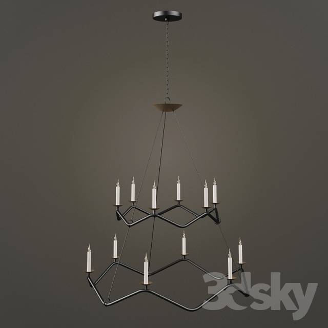 3d models ceiling light circa choros two tier chandelier circa choros two tier chandelier aloadofball Gallery
