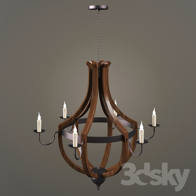 Ballard Designs Chandelier 3d models: ceiling light - ballard designs - tuscany 6,-light chandelier