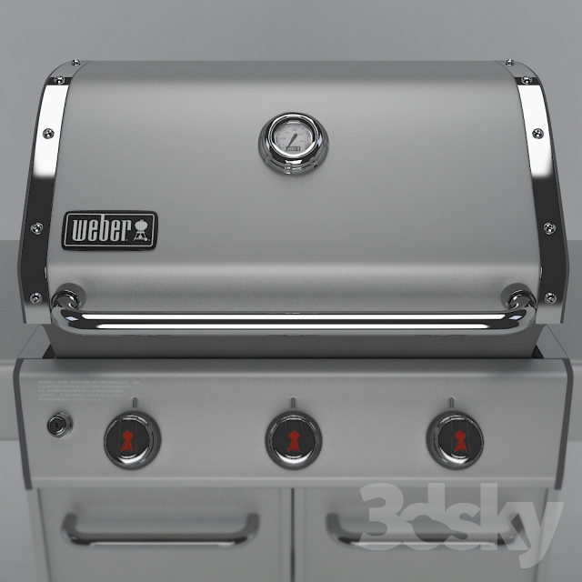 Weber Genesis S 310 >> 3d models: Other architectural elements - WEBER GENESIS GRILL