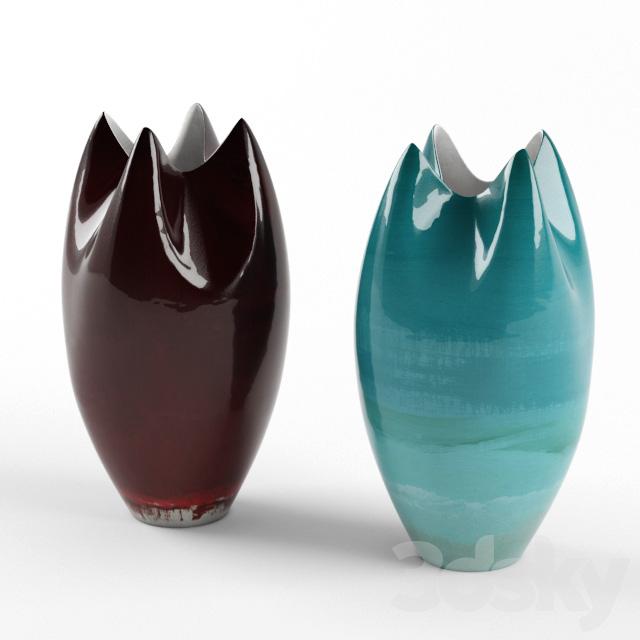 3d Models Vase Kelly Hoppen Tall Pinched Vase