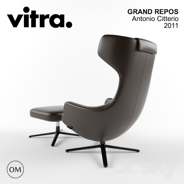 3d models arm chair vitra grand repos. Black Bedroom Furniture Sets. Home Design Ideas