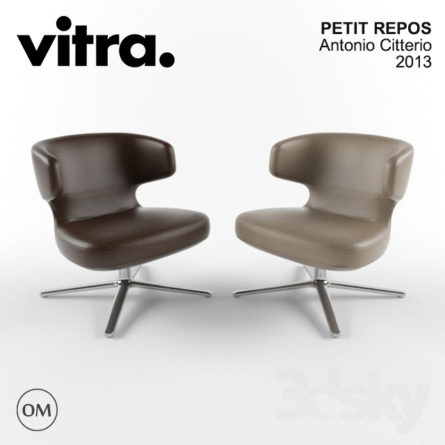 3d models arm chair vitra petit repos. Black Bedroom Furniture Sets. Home Design Ideas