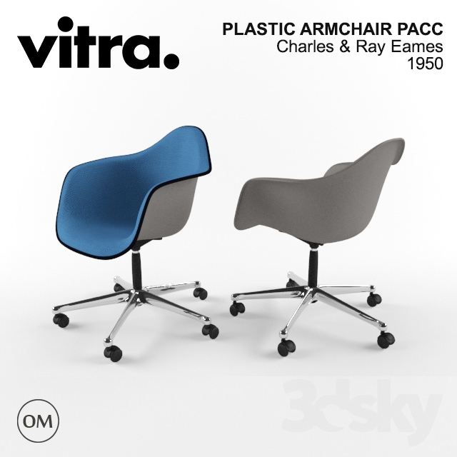 3d models arm chair vitra eames plastic armchair pacc for Vitra eames plastic armchair replica