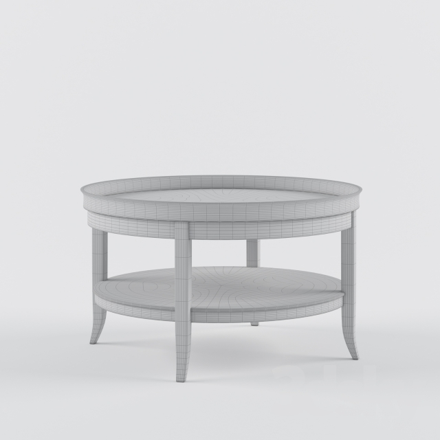 3d models: Table - Misendemeure Low Table Rous. Round