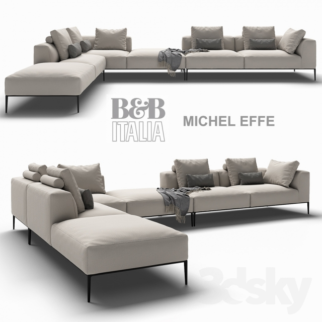 3d models sofa b b italia michel effe. Black Bedroom Furniture Sets. Home Design Ideas