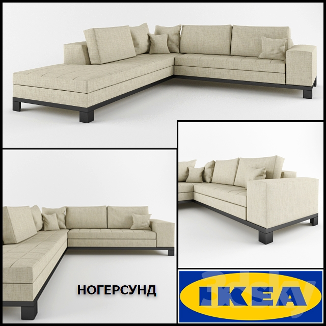 3d models: Sofa - Corner sofa IKEA NOGERSUND