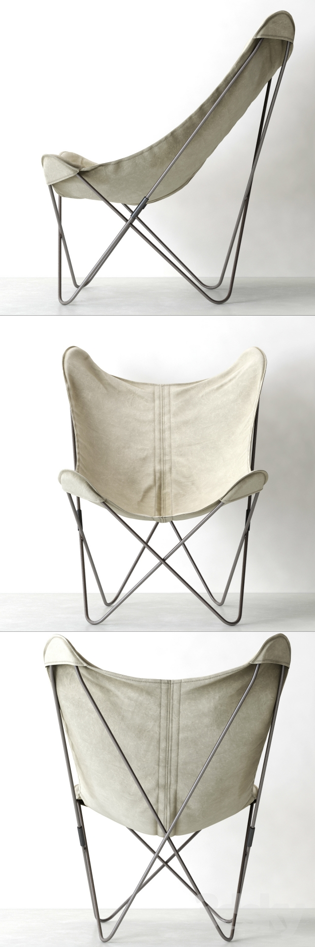 3d models Arm chair RH TYE STONEWASHED CANVAS