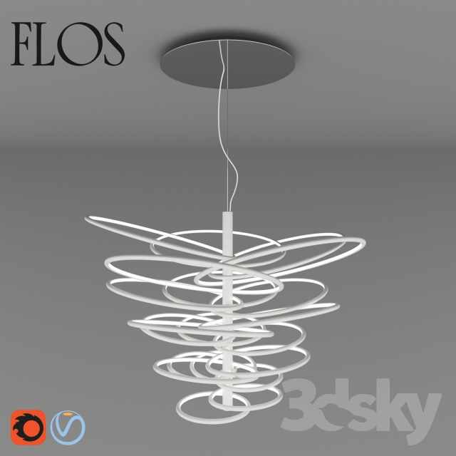 3d Models Ceiling Light Flos 2620