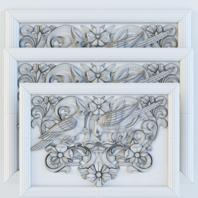 3d models Decorative plaster painting decor on the