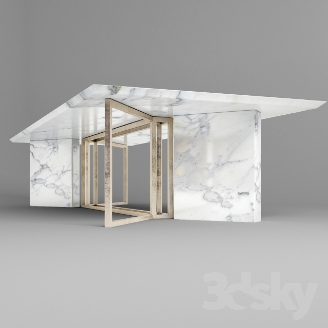 3d Models Table Meridiani Marble Table
