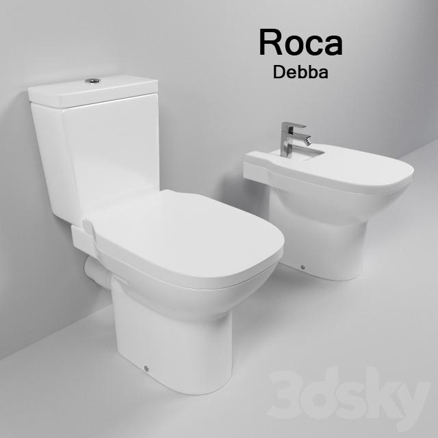 3d models toilet and bidet squat toilet and bidet roca debba - Toilet model ...