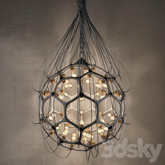 3d models ceiling light hexagon lamp