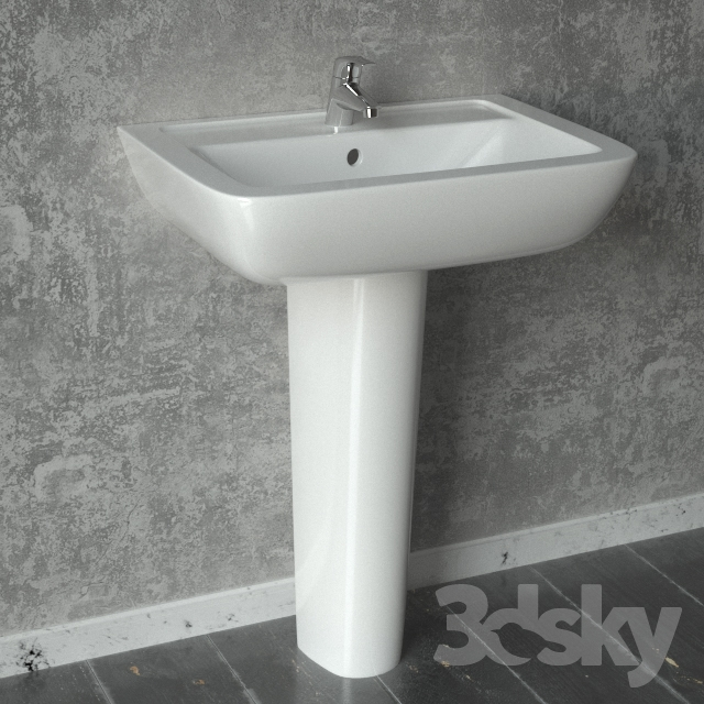 Sehr 3d models: Wash basin - Sink Ideal Standard Eurovit KM45