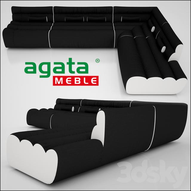 3d Models Sofa Modular Sofas Agata Meble