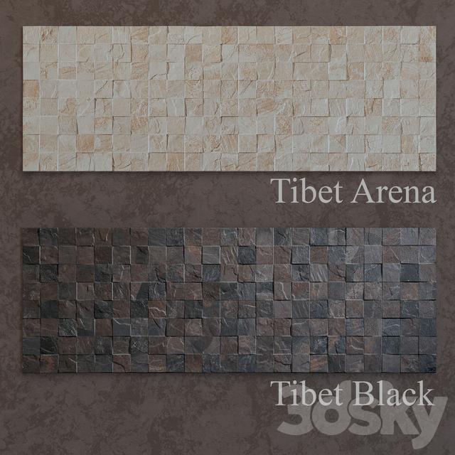 3d models  Bathroom accessories - Tiles Porcelanosa Tibet - 4 types 779c486236