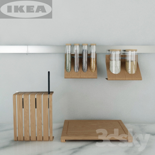 3d models Other kitchen accessories  IKEA kitchen set Rimforsa